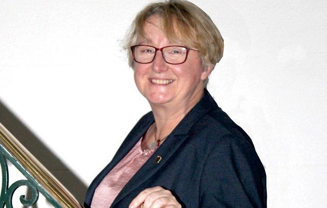 Theresia Bauer im Heidelberg Center Lateinamerika: Die Ministerin für Wissenschaft, Forschung und Kunst in Baden-Württemberg. Foto: Arne Dettmann