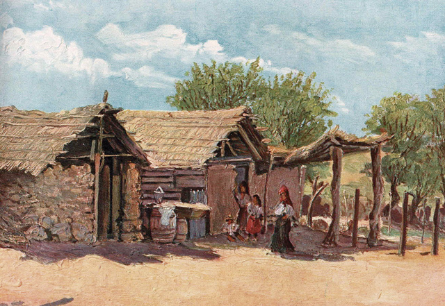 Der deutsche Maler Kurt Schiering wählte auch Szenen des täglichen Lebens als Motiv für seine Bilder.