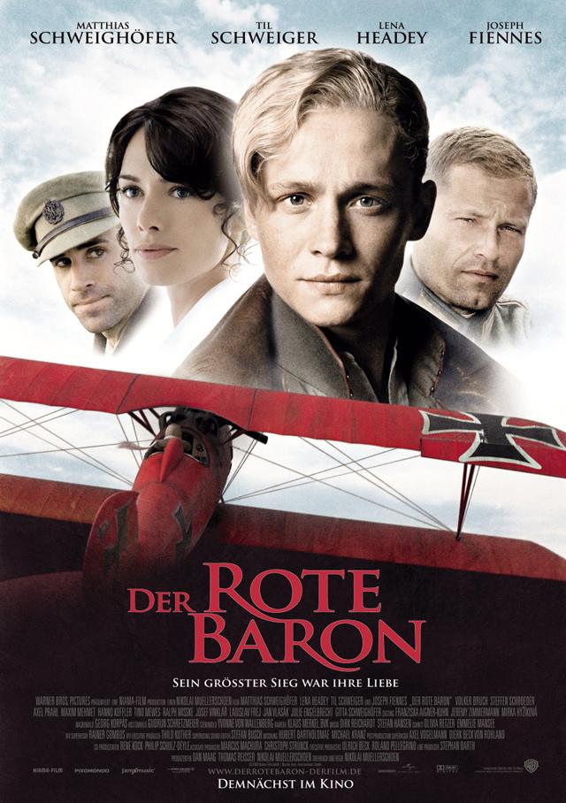 Die deutsche Filmproduktion «Der Rote Baron» von 2008 fiel in der Kritik mehrheitlich durch. Der Jagdflieger von Richthofen würde zu sehr zu einem ehrenvollen Helden stilisiert.
