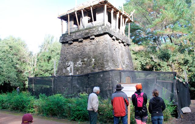 Der Bismarckturm in Concepción bildet ein bliebtes Ausflugsziel auf dem Cerro Caracol. Jetzt wird der Mirador Alemán restauriert.