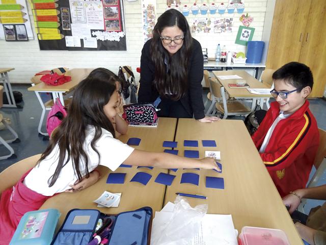Präsentation in der Deutschen Schule Santiago