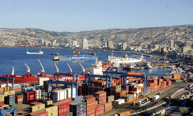 Der Hafen von Valparaíso: Der Handel mit Chile ist in diesem Jahr Kernthema auf dem Lateinamerika Tag in Hamburg.