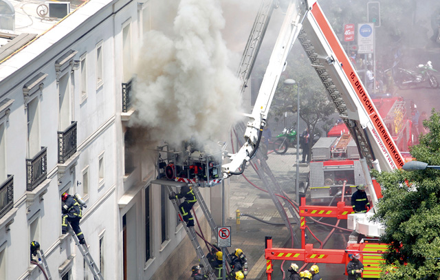 Feuer im Teatro Municipal Santiago: Einsatz für die 15. Deutsche Feuerwehrkompanie