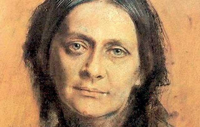Clara Schumann 1878. Porträt von Franz von Lenbach